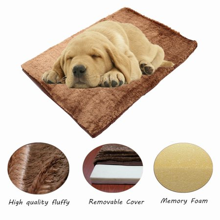 Memory Foam Dog Pet Bed Mat Orthopedic Extra Large Paws Kennel Cushion Winter Warming Pad Rug Cover Removable 39*28*2 Inch  - image 8 of 8