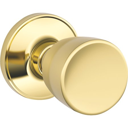 Byron Passage Door Knobs (Schlage J10VBYR605 Bright Brass Byron Passage Door)