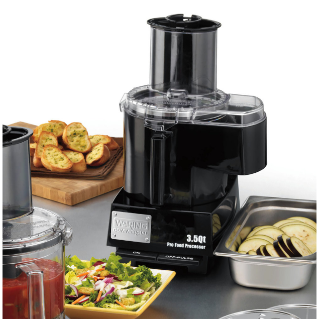 Waring WFP14SC Combination Continuous Feed Food Processor | 3.5 Qt. Bowl, 120V, 720 W