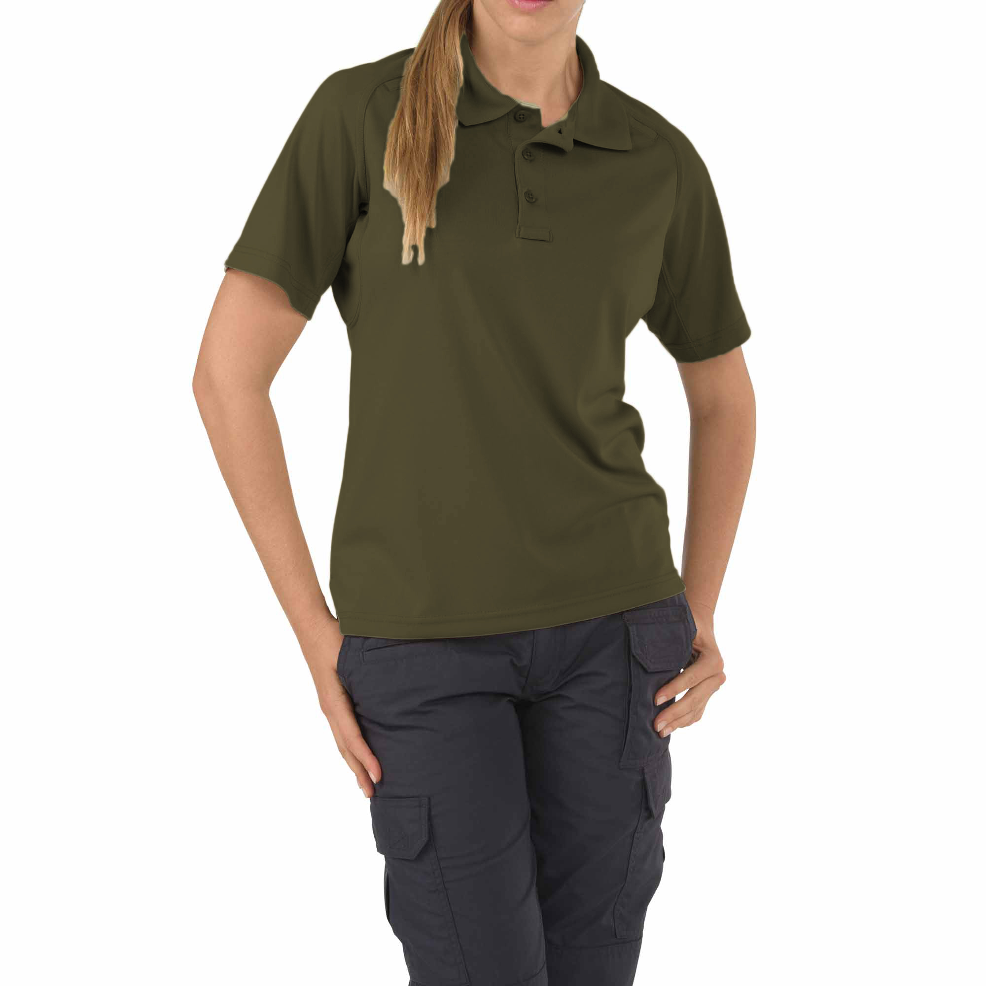 #61165 Women's Performance Short Sleeve Polo, TDU Green, XL by 5.11 Tactical