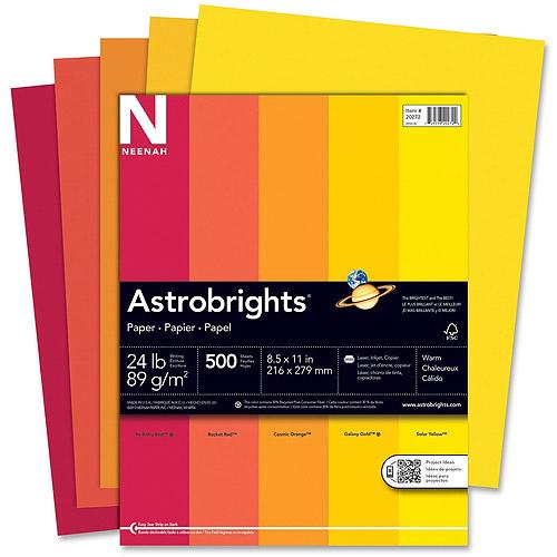 Wausau Astrobrights Warm Assortment 24 lb Paper