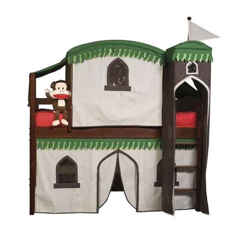 Harriet Bee Bonneau Twin Low Loft Bed with Tower