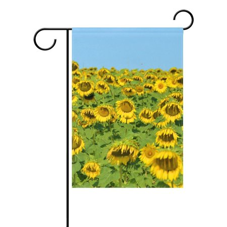 POPCreation Sunflowerstuscany Italy Garden Flag Banner 12x18 Inches Star Stripe American Patriotic Decorative Flag for Wedding Home Outdoor Garden Decor](Italian Flag Banner)