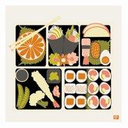 emma at home by Emma Gardner Pop Japan Bento Graphic Art