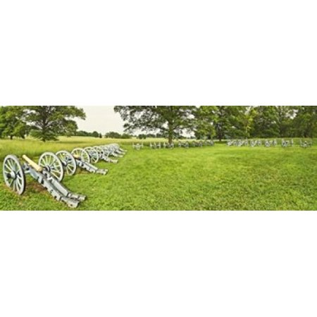 Cannons in a park  Valley Forge National Historic Park  Philadelphia  Pennsylvania  USA Poster Print (18 x 6)