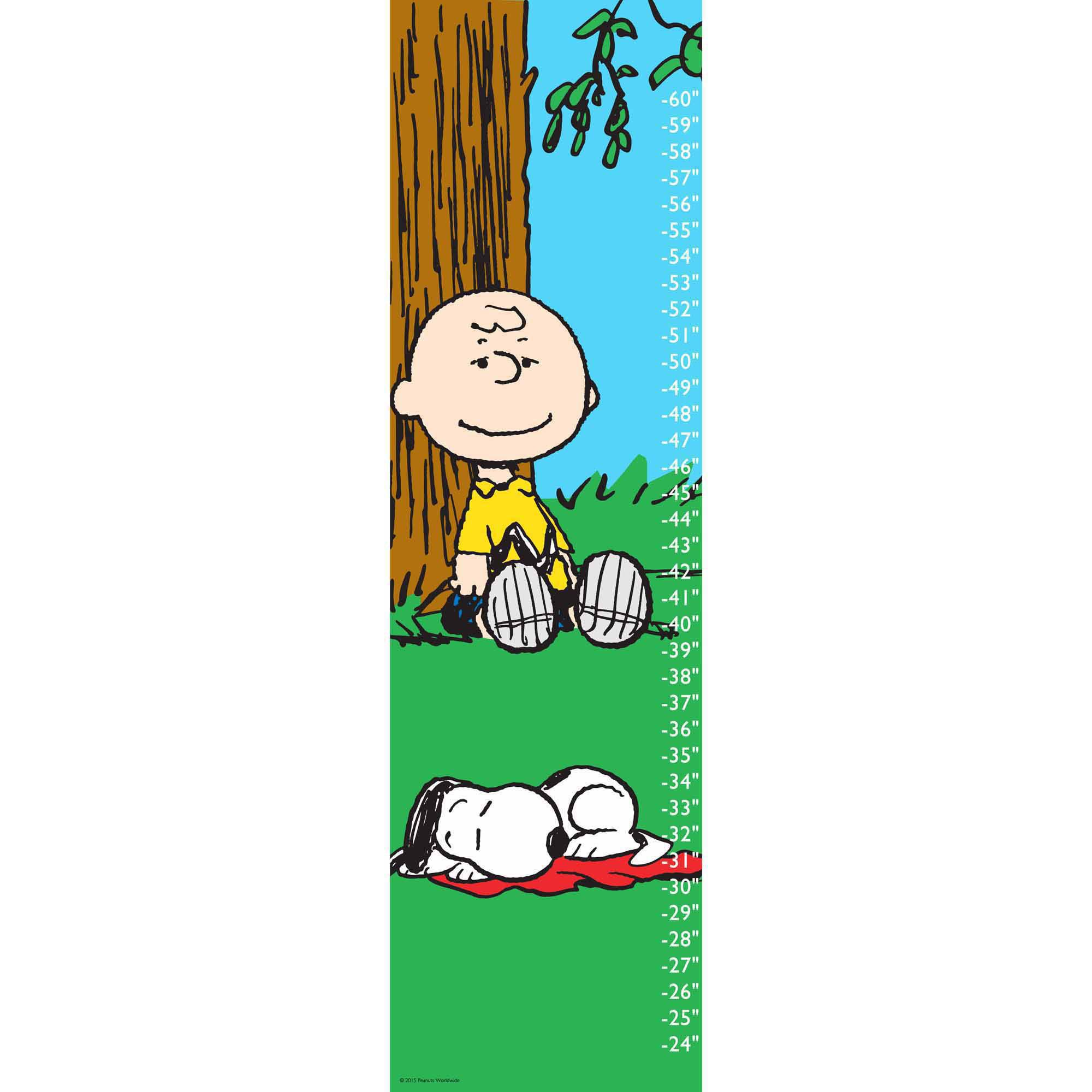 Peanuts Snoopy Napping Canvas Growth Chart
