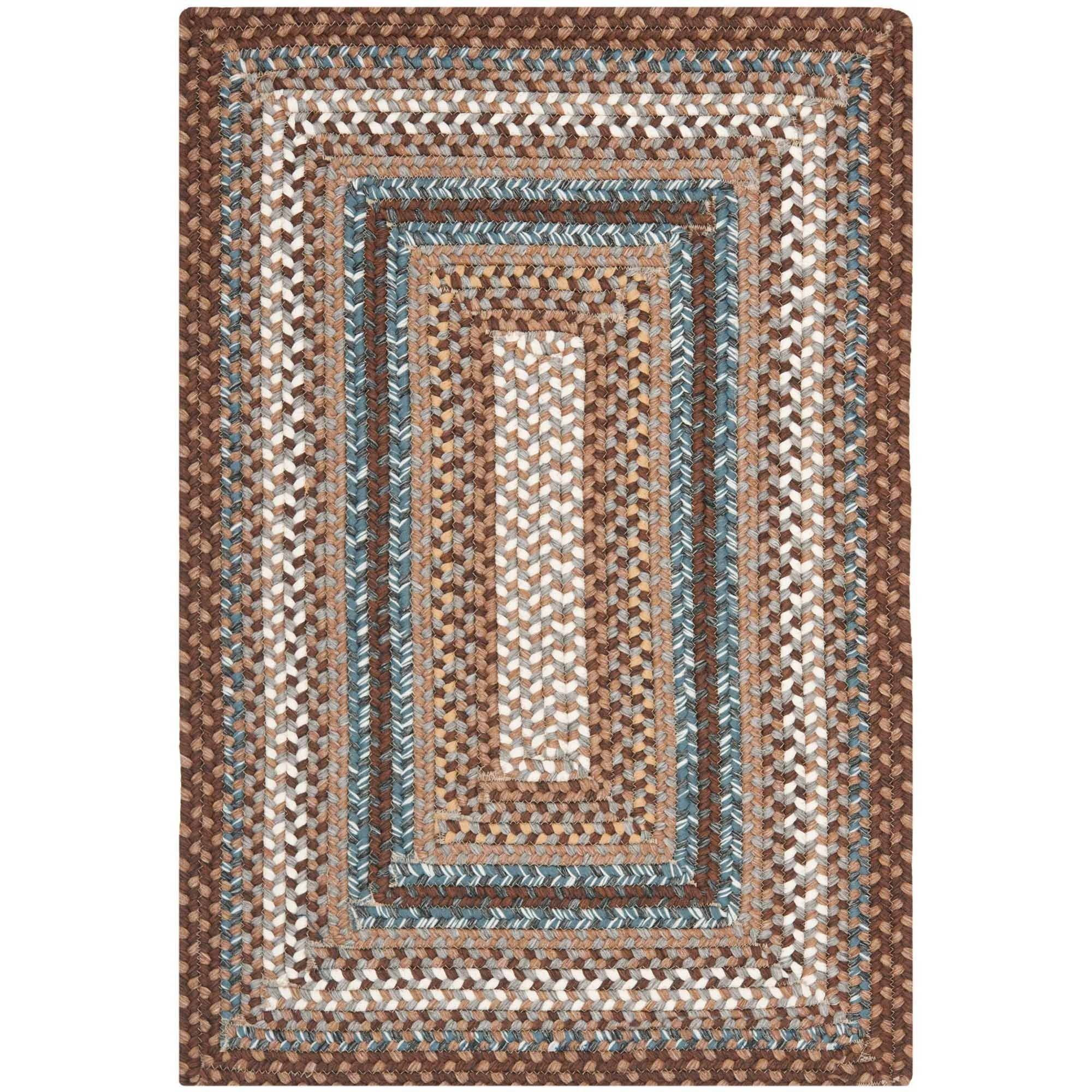 Safavieh Braided Cady Polypropylene Area Rug, Brown/Multi