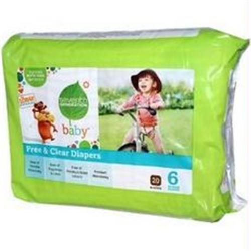 Seventh Generation B07103 Seventh Generation 7 Gen Diapers Stage 6 2000 Ct  -4x20ct