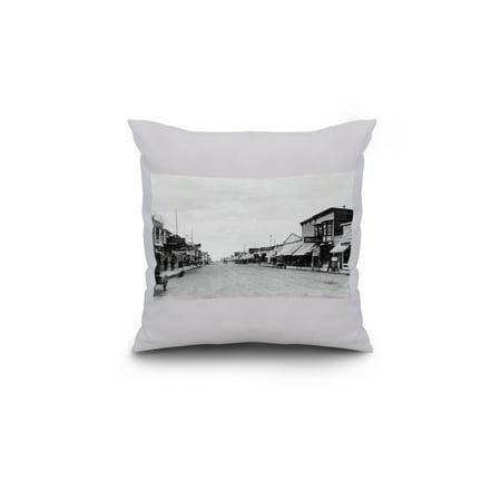 Anchorage Alaska A City Street Scene 18x18 Spun Polyester Pillow Custo
