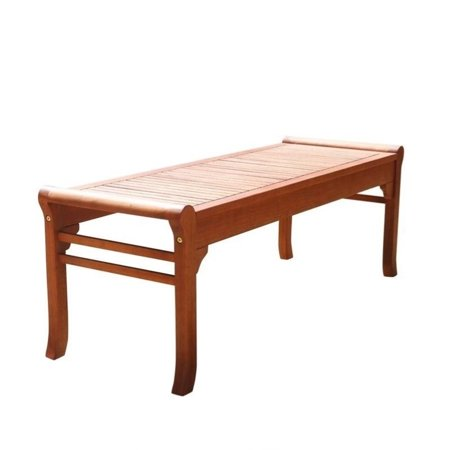 Style Backless Bench - Malibu Eco-friendly 4-foot Backless Outdoor Hardwood Garden Bench