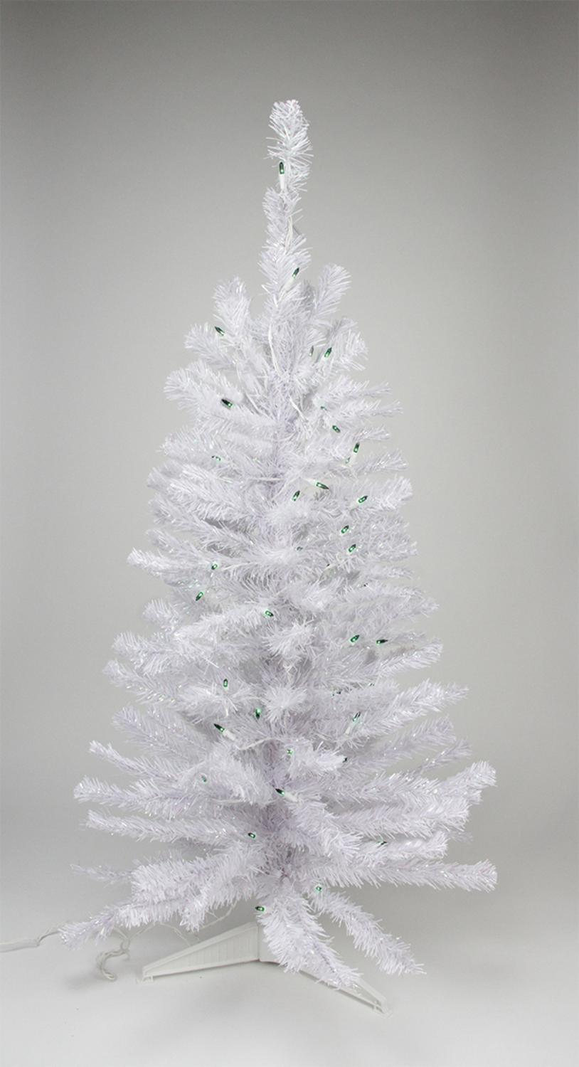 Northlight 2 Prelit Artificial Christmas Tree White Iridescent Pine Green Lights