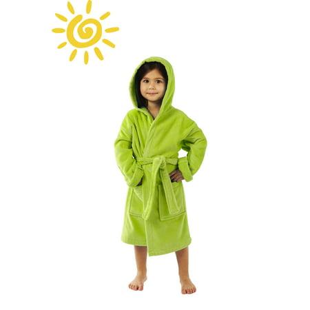 TurkishTowels - Hooded Terry Velour Kids Bathrobe by Parador Boys and  Girls 5d2d64a12