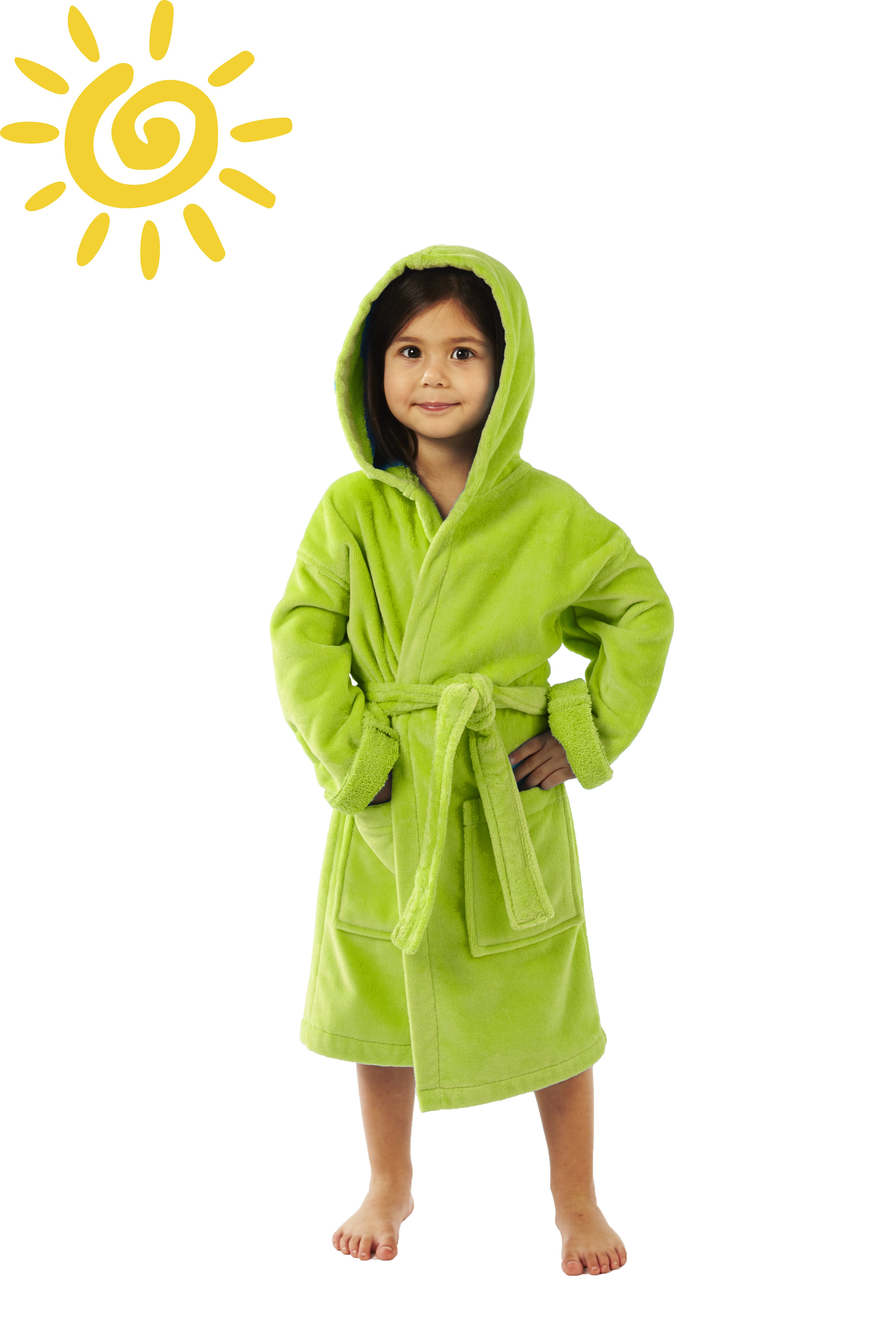 Hooded Terry Velour Kids Bathrobe by Parador Boys and Girls, 100% High grade pure cotton
