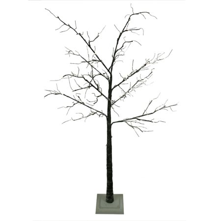 6' LED Lighted Flocked Christmas Twig Tree Outdoor Yard Art Decoration - Warm Clear (Outdoor Christmas Yard Decorations)