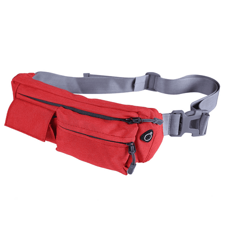 HDE Waist Bag Fanny Pack Multipocket Crossbody Hip Pack for Men Women Sports Exercise Travel Pouch (Red)