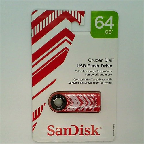 SanDisk Cruzer Dial 64GB Red Chevron