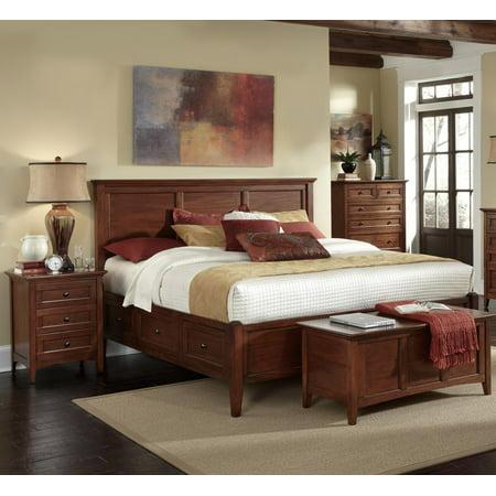 Traditional Queen Storage Bedroom Set 3Pcs WSLCB5091 A-America Westlake Antique Mahogany Bedroom Set