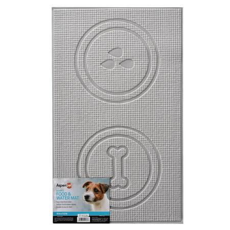 - Aspen Pet Foam Dog Food & Water Bowl Mat