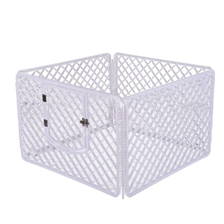 Iuhan 4-Panel Pet Pen Dog Fence Dog Cage Small And Medium Dogs PP Resin Fence Protect ()
