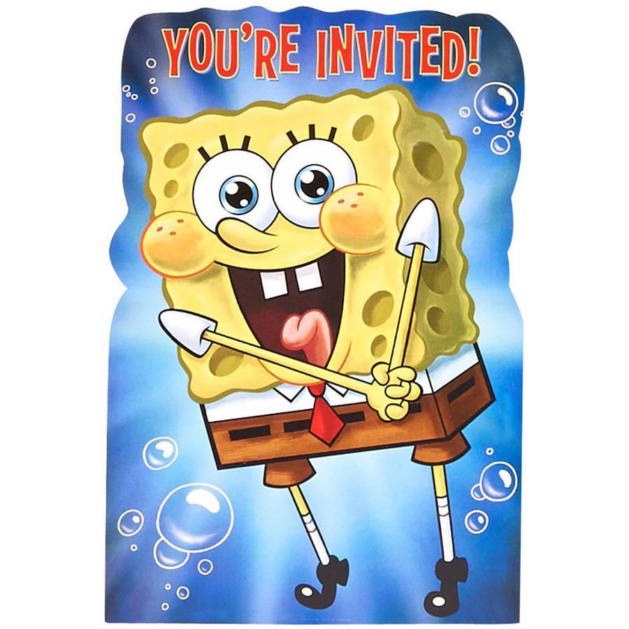 SpongeBob Invitations, 8pk
