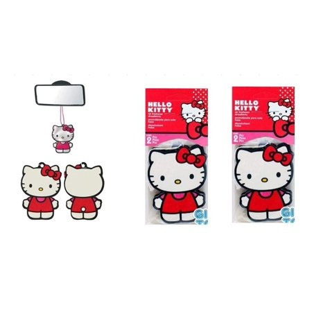 Hello Kitty Core Paper Air Freshener x 2 pack (4pc total) (Hello Kitty Galaxy Core 2)