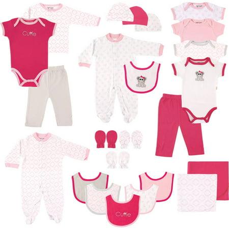 Newborn Baby Girl Deluxe Baby Shower Gift Set, 24pc (Baby Shower Things For Girls)