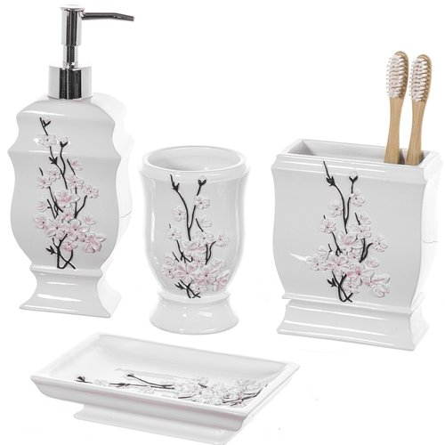 Creative Scents Vanda 4-Piece Bathroom Accessory Set