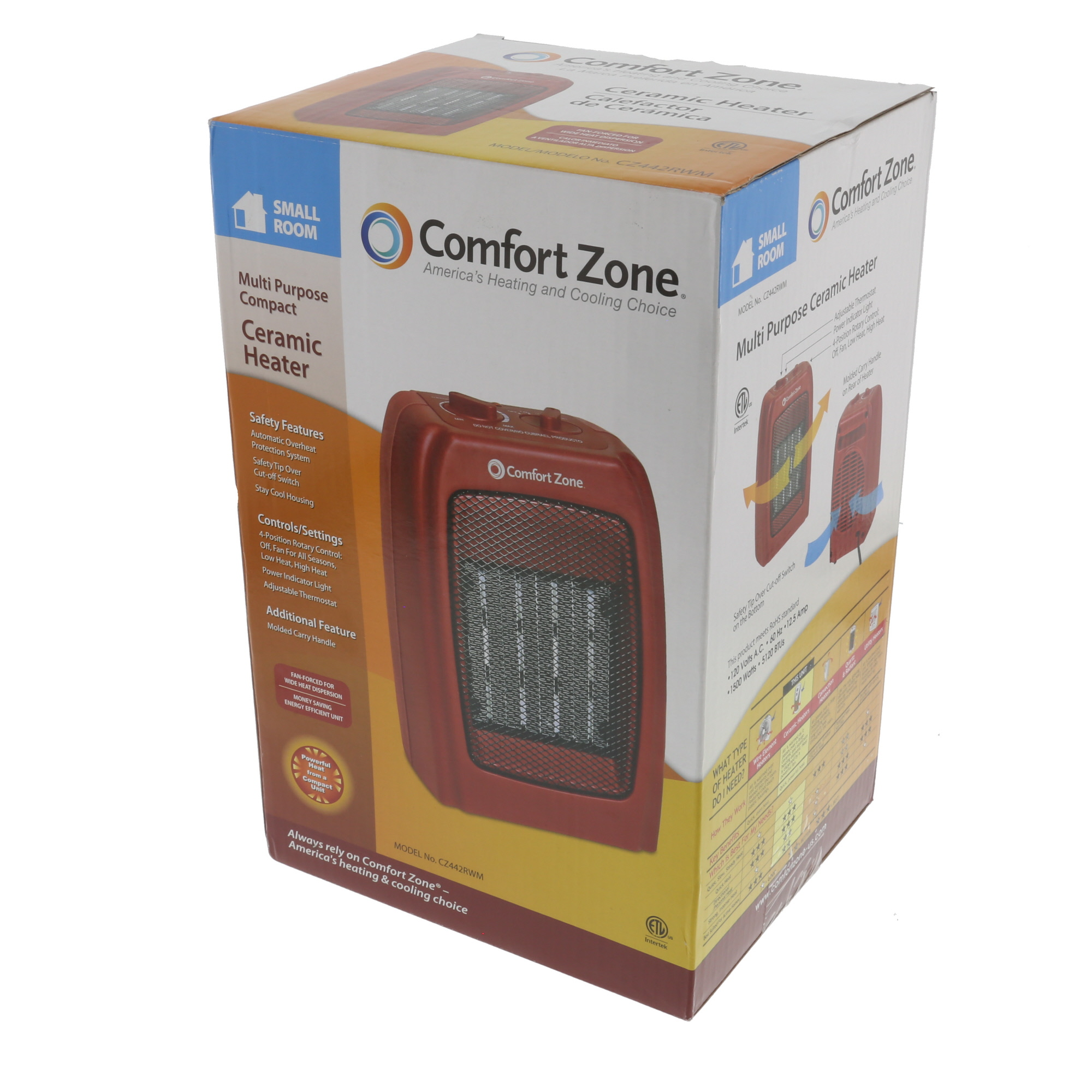 Comfort Zone Ceramic Electric Portable Space Heater Red Cz442wm Golf Cart Battery Wiring Diagram