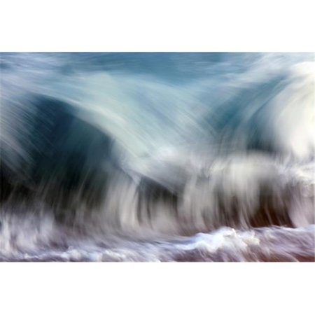 Posterazzi DPI12305502LARGE Ocean Wave Blurred by Motion - Hawaii United States of America Poster Print by Vince Cavataio, 38 x 24 - Large - image 1 of 1