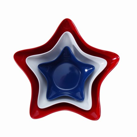 Mainstays Melamine Figural Star Serve Tray, 3-Pack