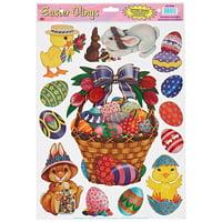 Easter Basket Friends Clings Decoration