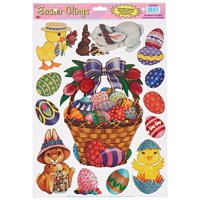 Easter Basket Friends Clings Halloween Decoration