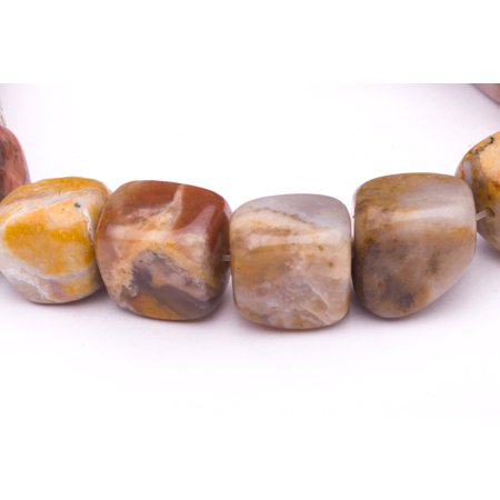 Mix Semi Precious Stone - Tumbled Pebble Mix Marble Beads Semi Precious Gemstones Size: 13x13mm Crystal Energy Stone Healing Power for Jewelry Making