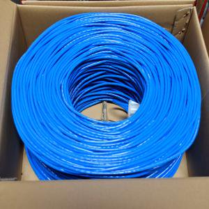 BULK 1000FT CAT5E BLUE UTP 24AWG CCA NETWORK CABLE (Cat5e Network Install Kit)
