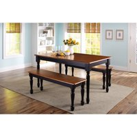 Better Homes and Gardens Autumn Lane 3-Piece Dining Set, Black and Oak