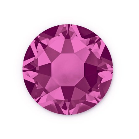 Swarovski Xilion Rose Hot Fix Crystals 2028 4mm Fuchsia (Package of 10)