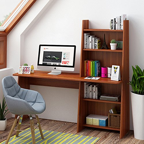 Tribesigns Computer Desk With Shelf 59 Wooden Writing Study Table Workstation For Home Office Adjule Bookcase Design Com