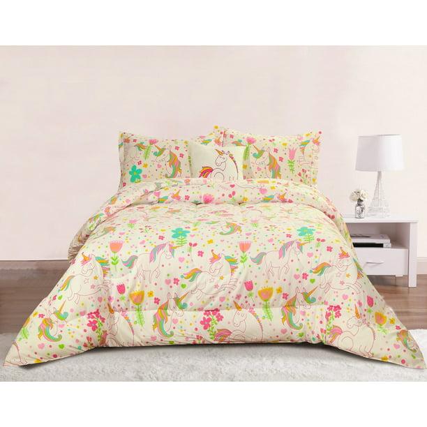 Queen 4 Piece Comforter Bed Set, Queen Size Teenage Bedding