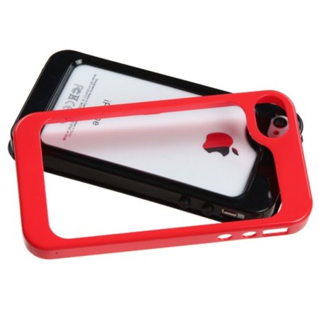 Insten Black/Solid Red MyBumper Phone Protective Case Cover For APPLE iPhone 4S/4 - image 1 of 3