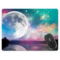 FINCIBO X-Large Size Rectangle Standard Mouse Pad, Moon Fantasy Landscape
