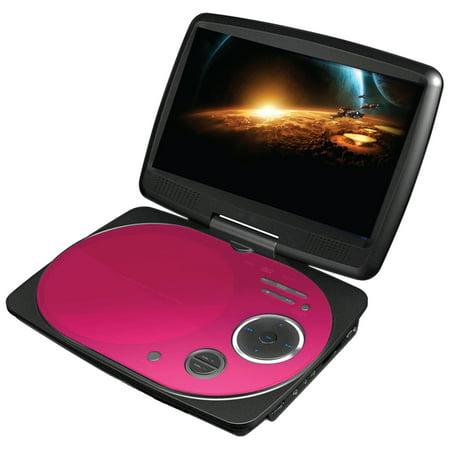 impecca dvp916p 9 inch swivel portable dvd player pink. Black Bedroom Furniture Sets. Home Design Ideas