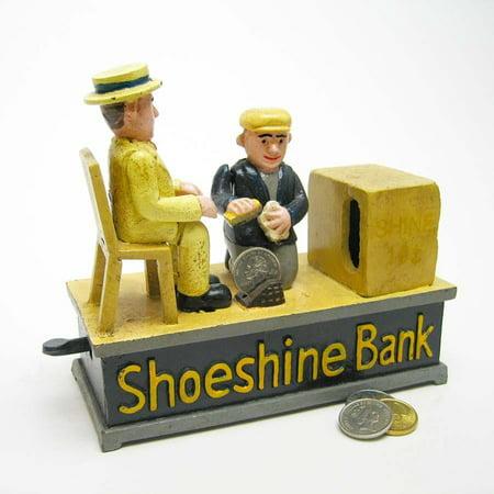 1920s-style Antique Replica Shoe Shine Collectors Die Cast Iron Mechanical
