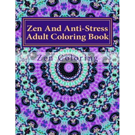 Zen And Anti Stress Adult Coloring Book Relieving Patterns Featuring Mandalas Henna