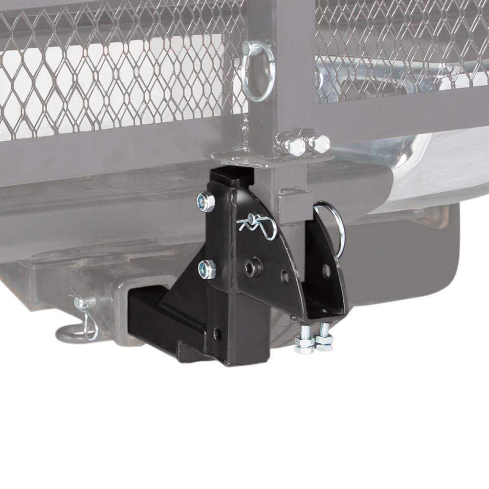 """2"""" Class III or IV Hitch-Mounted Mobility Carrier Multiple Level Height Adapter"""