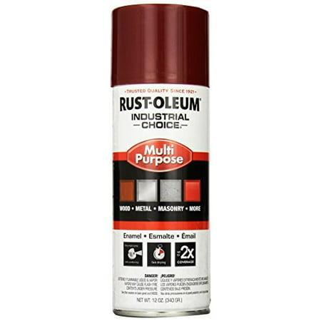RUST-OLEUM 1664830 Industrial Choice ™ Spray Paint,Cherry Red,12 oz.