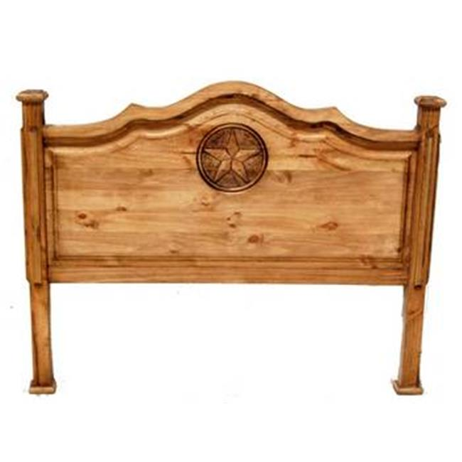 Million Dollar Rustic 02-1-10-66-3 Roma King Headboard With Star