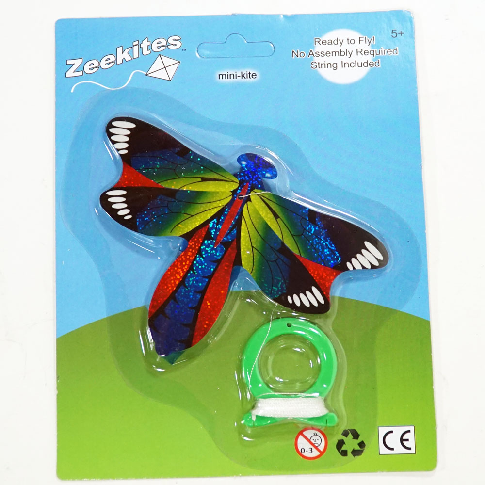ZeeKites Mini Kite with Tail Ribbons! Ready to Fly!  (Dragonfly 5'' 1)