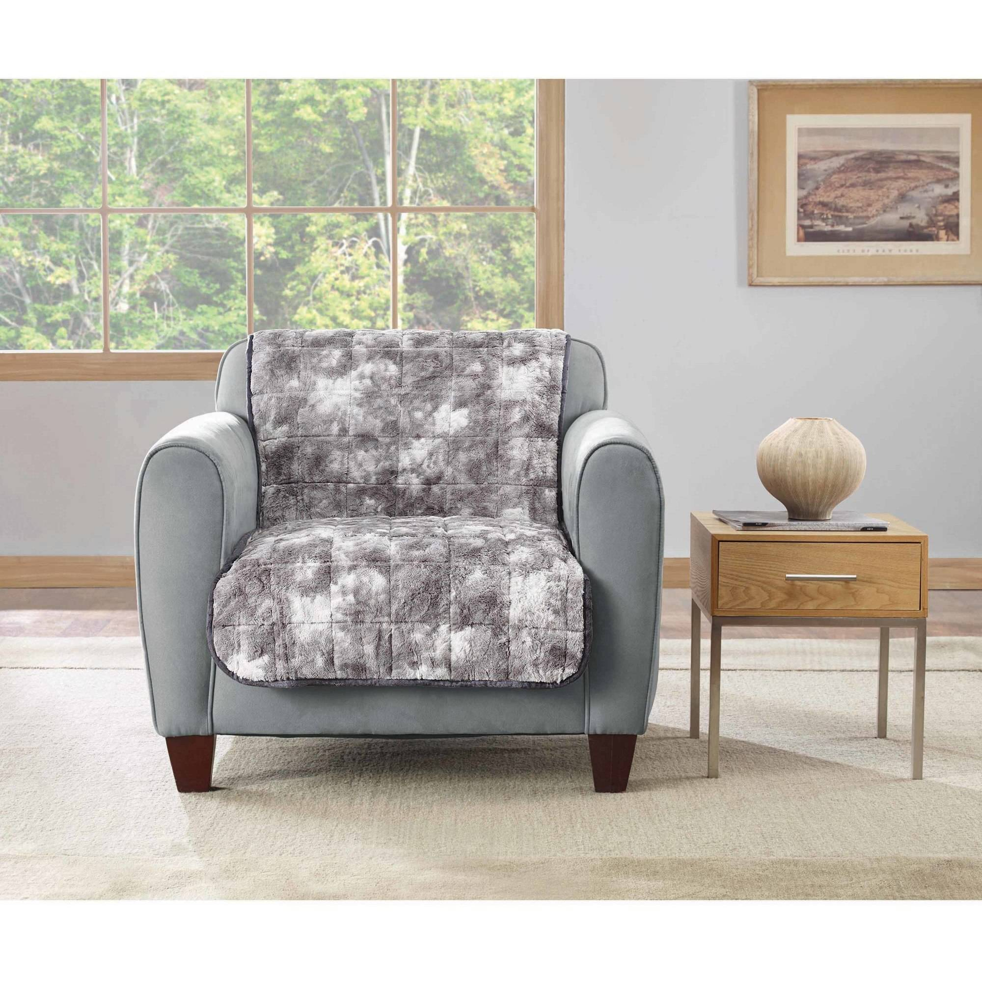 Sure Fit Faux Fur Armless Chair Throw