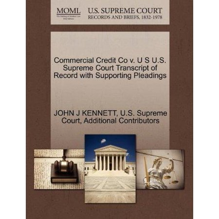 Commercial Credit Co V  U S U S  Supreme Court Transcript Of Record With Supporting Pleadings