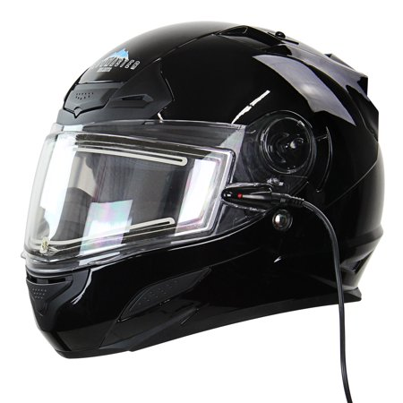 Snow Master TS-44 Black Full Face Snowmobile (Snowmobile Helmet)